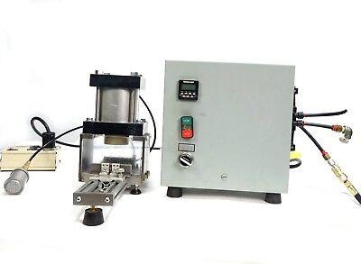 Fabco-air Multi-power Pneumatic Press W Pancake Cylinder And Servo Plc Box