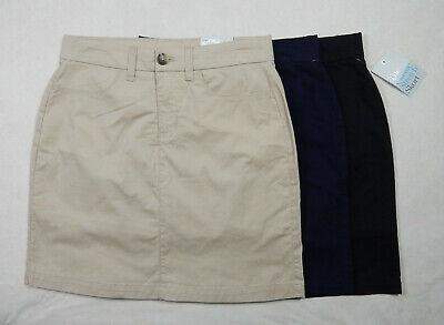 NEW Croft & Barrow Classic Stretch Womens Khaki Navy Black Skort Skirt w/Shorts  Black Khaki Skirt