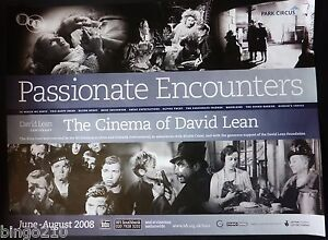 PASSIONATE ENCOUNTERS THE CINEMA OF DAVID LEAN ORIGINAL QUAD POSTER BFI 2008
