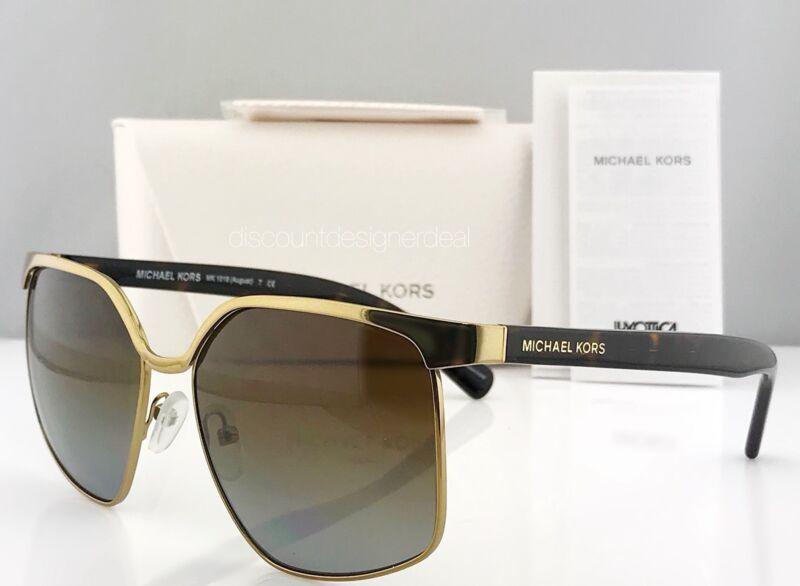 Michael Kors Polarized Womens Sunglasses MK1018 1145T5 3P AUGUST Brown Gradient
