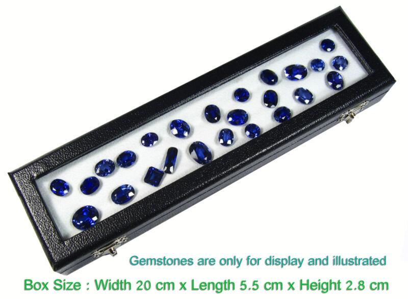 1 PIECE OF TOP GLASS GEMSTONE DIAMOND COIN JEWELRY DISPLAY LONG BOX 20x5.5cm.