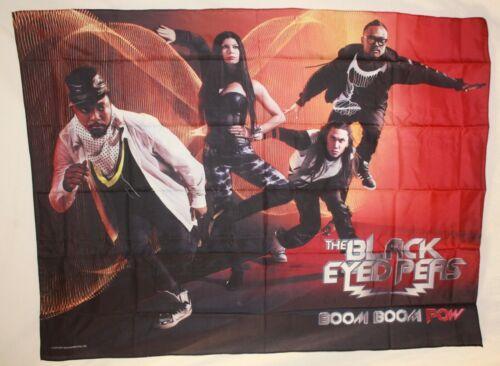 "Rare Black Eyed Peas Boom Pow Fergie Will.I.Am Cloth Fabric Poster Flag 30""x 40"""