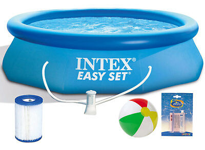 INTEX Easy Set Swimming Pool 305x76 cm Schwimmbecken Quick-Up Schwimmbad 28122