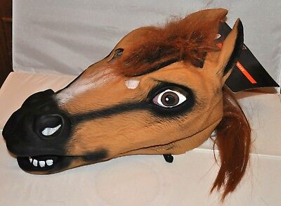 Horse Full Mask Head Animal Halloween Decoration Party Adult Costume NEW (Halloween Party Decor Adults)