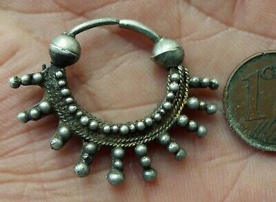 Buckle Ear Silver Watermarked Jewellery Antique Mauritania South Africa Antique
