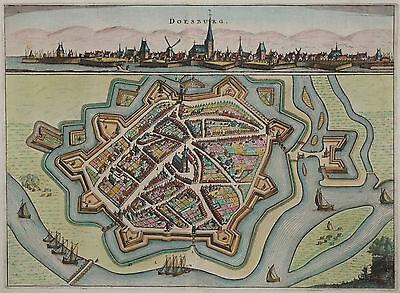 Doesburg - Rare Stadtansicht von Nicolaes van Geelkercken - Original von 1654