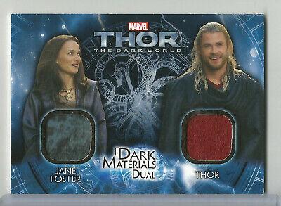 2013 Marvel The Dark World Thor Jane Foster Materials Dual Wardrobe Relic #DMD-8