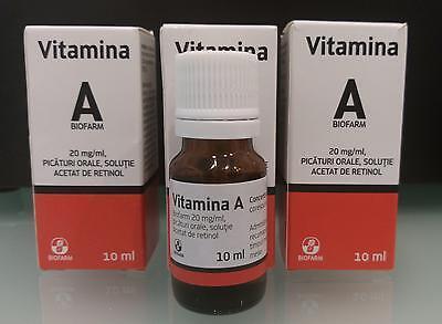 Vitamina A retinolo 10ml vitamina anti rughe anti acne anti età 3 CONFEZIONI