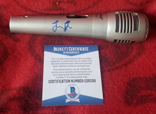 Leon Bridges Beckett Authenticated Hand Signed Microphone I'm Coming Home RARE