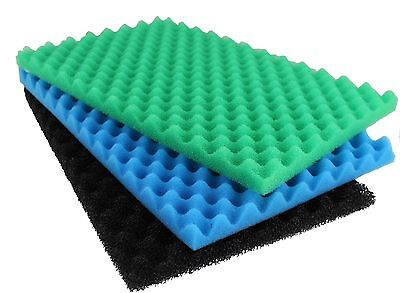 "Replacement Garden Fish Pond media Filter Foam Sponge Set of 3 pads 17"" X 11"""