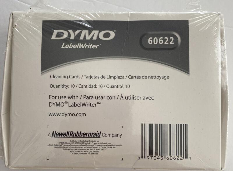 New Sealed Dymo Labelwriter Cleaning Cards 10 Cards Total 60622