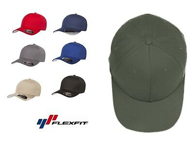 Flexfit Brushed Twill Fitted Baseball Blank Hat Cap plain flex fit Twill-fitted Cap