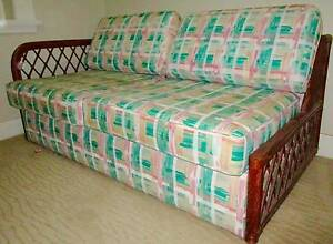 Day Bed/Sofa Bed - Bent Cane North Strathfield Canada Bay Area Preview