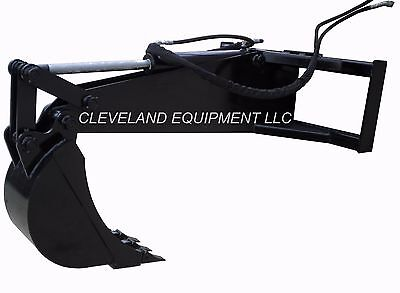 Hd Backhoe Attachment W 12 Bucket Excavator Skid Steer Loader New Holland Gehl