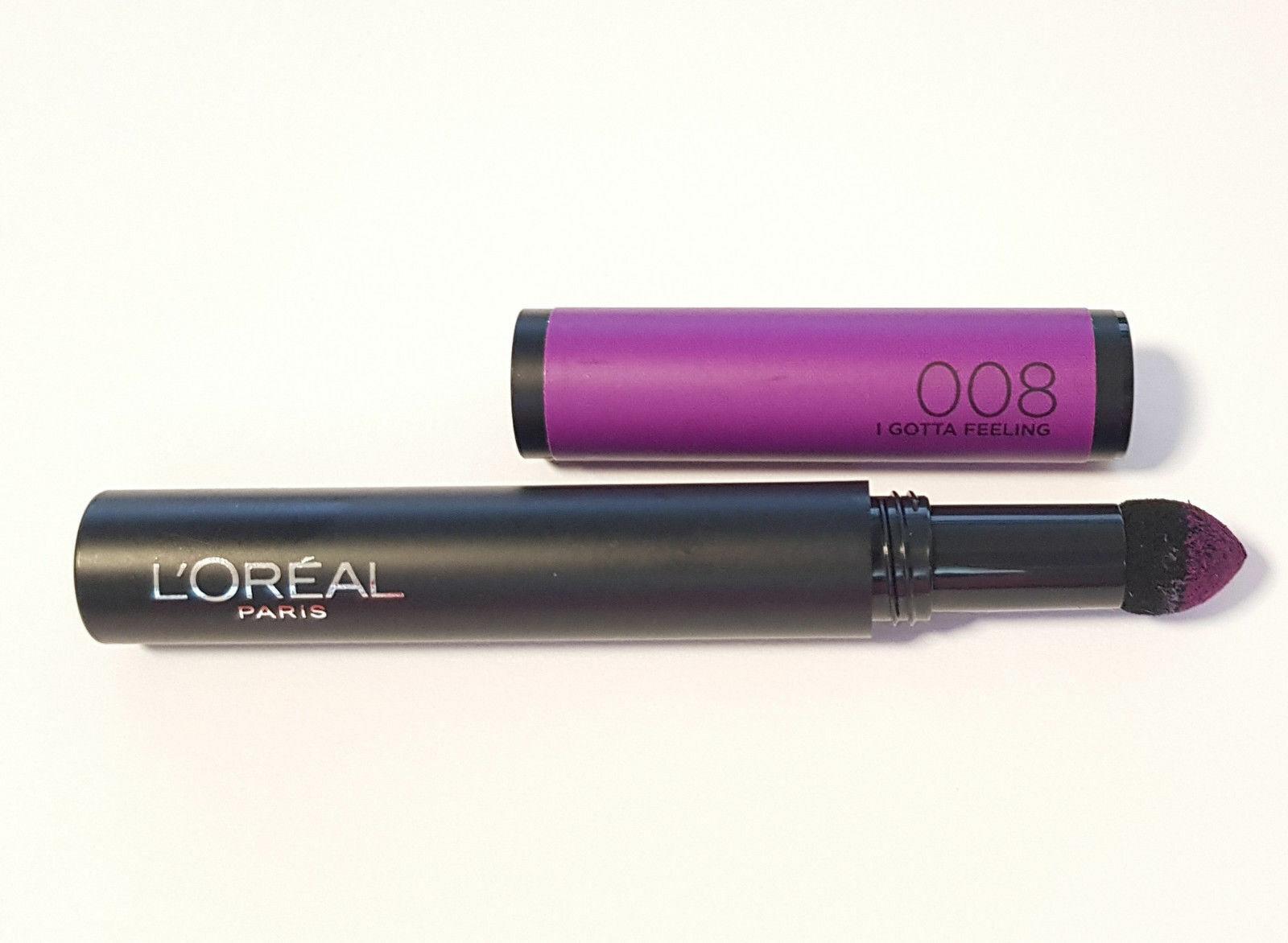 Loreal Puder Lipstick Lippenstift Infaillible Matte FX 008 I Gotta Feeling Neu