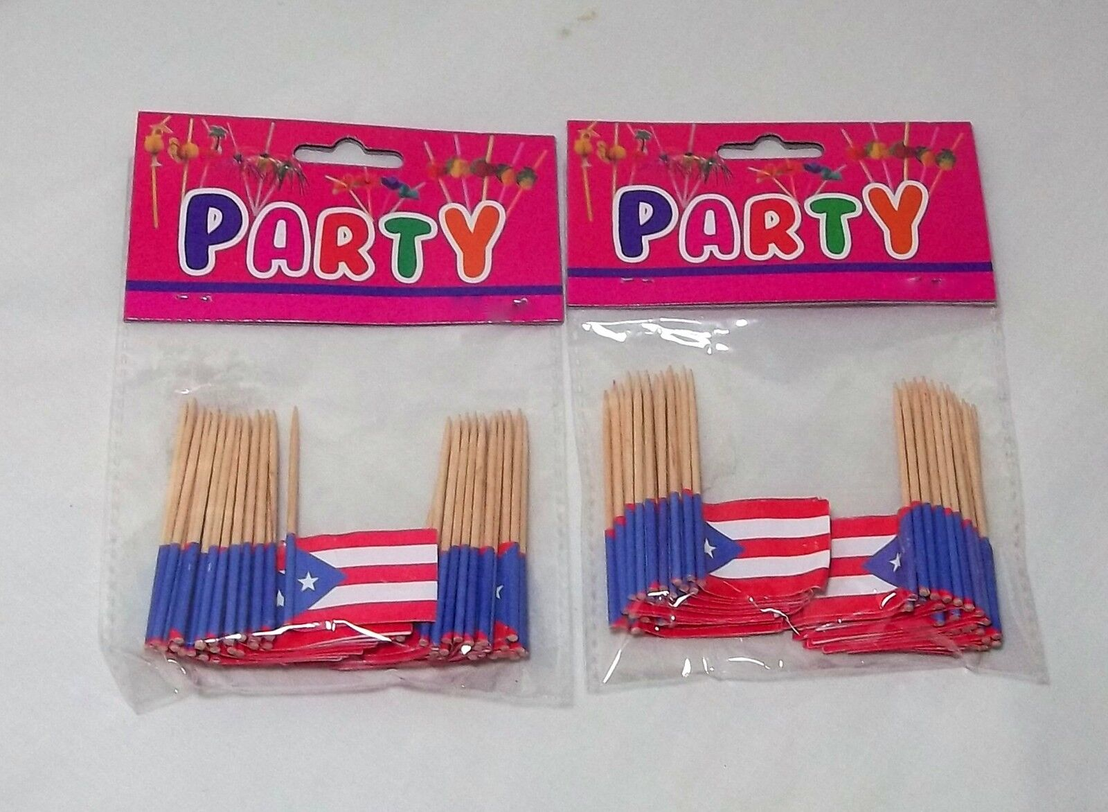Puerto Rico Flag Cupcake Decor Adult Party Favor Supply Birt
