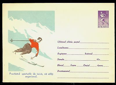 1961 Skiing,Mountains,Practices skiing for better health,Runner,Romania,PS