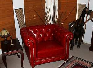 Brand New 100% Genuine Leather Chesterfield Tub Chair - Ox Blood Maroochydore Maroochydore Area Preview