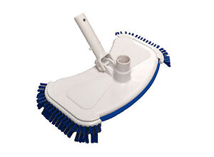 Deluxe Weighted Swimming Pool Vacuum Head Cleaner Side Brushes, Fish Pond Vac