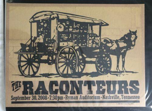 Raconteurs Hatch Show Print Concert Poster Ryman Nashville 2008 - Jack White TMR