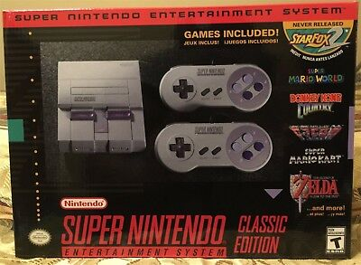 Wonderful Nintendo Entertainment System (SNES) Classic - mod w/ 260+ Games - New!