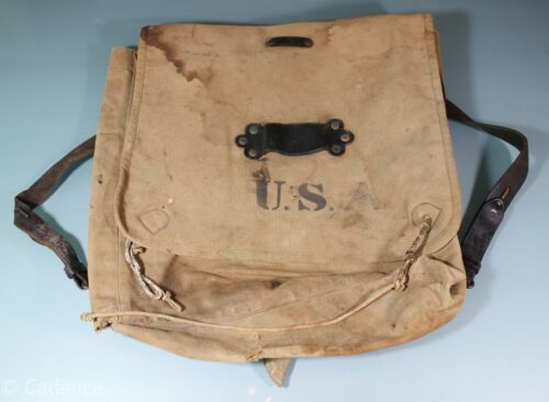 US Indian Wars M1878 Haversack Rock Island AMAZING Graffiti! Named! Modified!