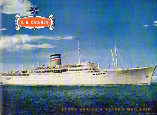 Safmarine S.A. ORANJE Intro Brochure from 1966 - ex-PRETORIA CASTLE - Excellent