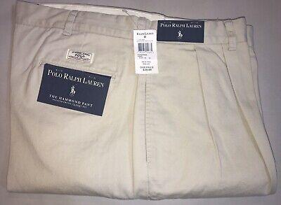 NWT Men's Polo Ralph Lauren 40x32 Hammond Pleated Front Classic Sand Pants