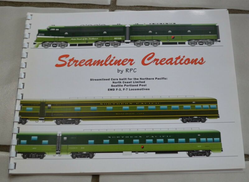 Streamliner Creations by RPC Northern Pacific Railroad Passenger Cars in color
