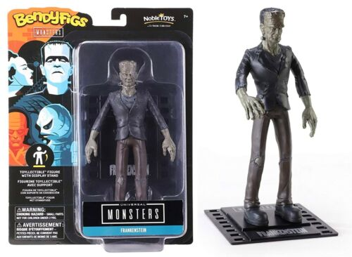 "BendyFigs Universal Monsters - Frankenstein Action Figure 7"" Inch Tall NEW 2020"