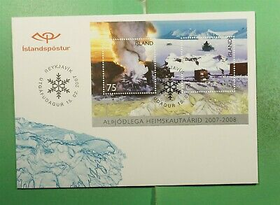 DR WHO 2007 ICELAND FDC ANTARCTIC S/S  g14150