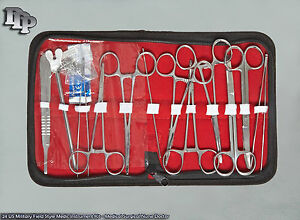 24-US-Military-Field-Style-Medic-Instrument-Kit-Medical-Surgical-Nurse-Doctor