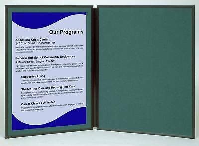 Folding 2 Panel 27.5 X18 Green Tabletop Display For Use With Velcro Hook Tape