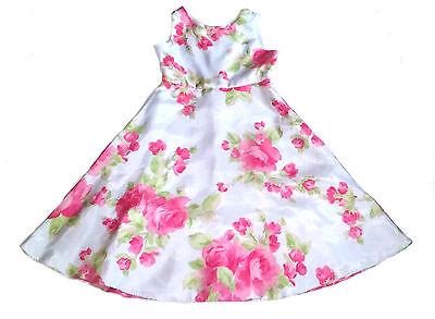 Perfectly Dressed  Girls Organza Rose Dress  Sz 7