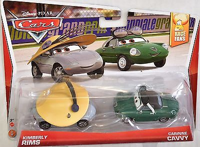 DISNEY PIXAR CARS RACE FANS KIMBERLY RIMS & CARINNE CAVVY 2 CAR PACK, used for sale  Missouri City