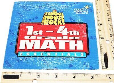 SCHOOL HOUSE ROCK 1ST-4TH GRADE - MATH ESSENTIALS PC CD-ROM FUN GAMES USED 1997 ()