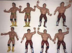 25$each or 40$ TAGTEAM WWF LJN VINTAGE WRESTLING FIGURES