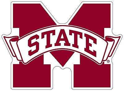 Mississippi State University Bulldogs NCAA Color Die Cut Vinyl Decal / - Mississippi State Bulldog