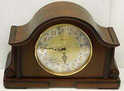 BULOVA MANTEL CLOCK-CHADBOURNE IN OLD WORLD WALNUT FINISH B1975