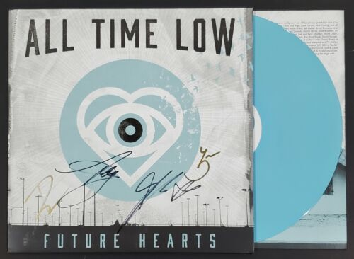 ALL TIME LOW BAND SIGNED FUTURE HEARTS LP VINYL ALBUM W/JSA CERT