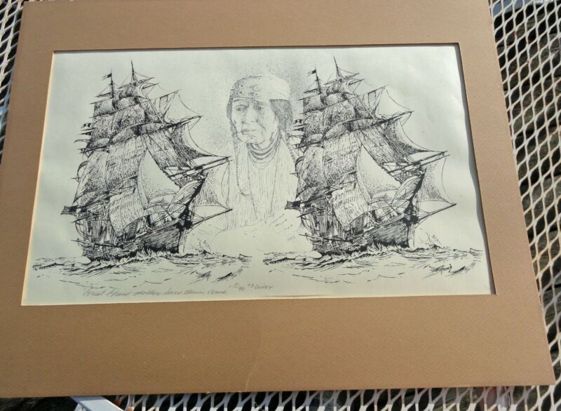 Nathan Olney Signed and Numbered Lithograph (#1 of 5) 1973 Yakima 1820