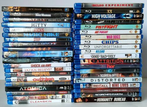Lot of 40 Blu-ray Movies. Brand New Wholesale.