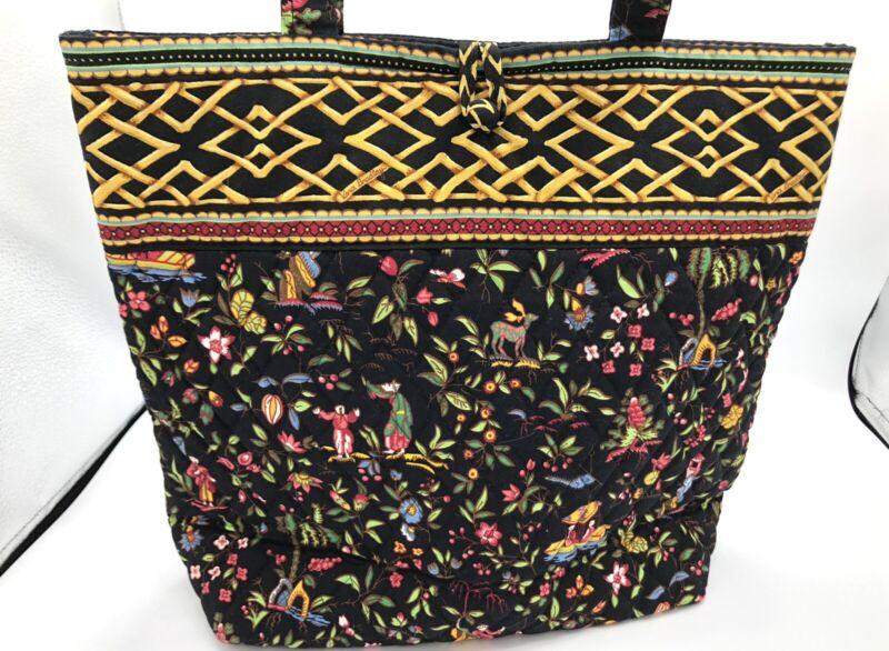 Vera Bradley MING Button Tote Large Shoulder Bag Purse Excellent! Handbag