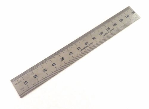 """Igaging Machinist Ruler 6""""/150mm English / Metric E/M Stainless 1/32"""" 1/64th mms"""