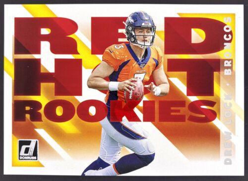 2019 Panini Donruss Red Hot Rookies RHR-2 Drew Lock RC Insert - Denver Broncos - $3.99