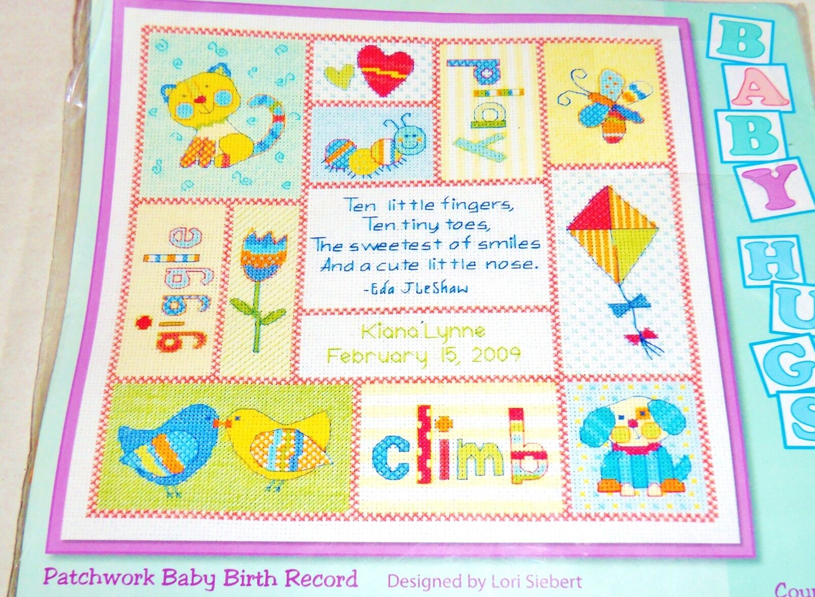 Dimensions Pastel Welcome Baby Announcement Counted Cross St