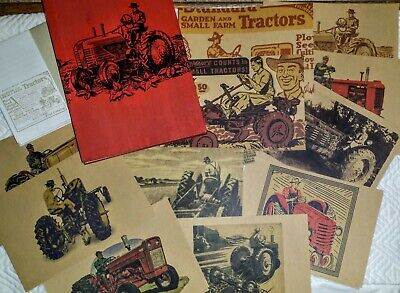 - FARM TRACTORS Note CARDS~STATIONERY~Red WOOD BOX Amy Butler ART of the MIDWEST