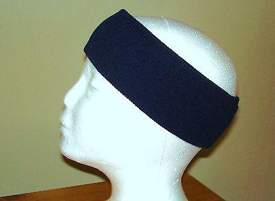 DARK NAVY BLUE KNIT HEADBAND EAR WARMER ACRYLIC HEAD EARMUFF WARM