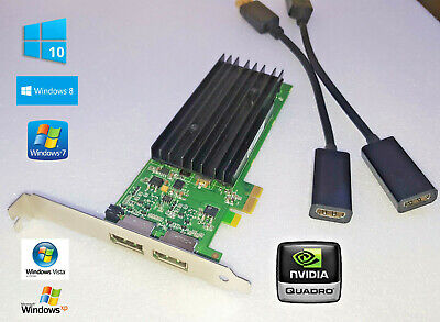 Dell Vostro 410 NVIDIA Quadro NVS Dual Displayport w/ HDMI Adapters PCI-E x1 for sale  Shipping to India