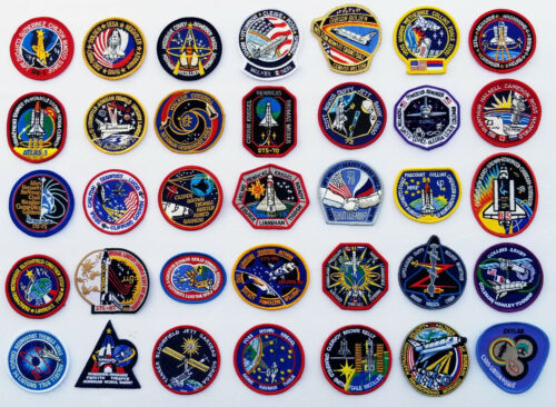 Lot of 35 NASA STS Shuttle Mission Astronaut Space Patches -LOT-35B